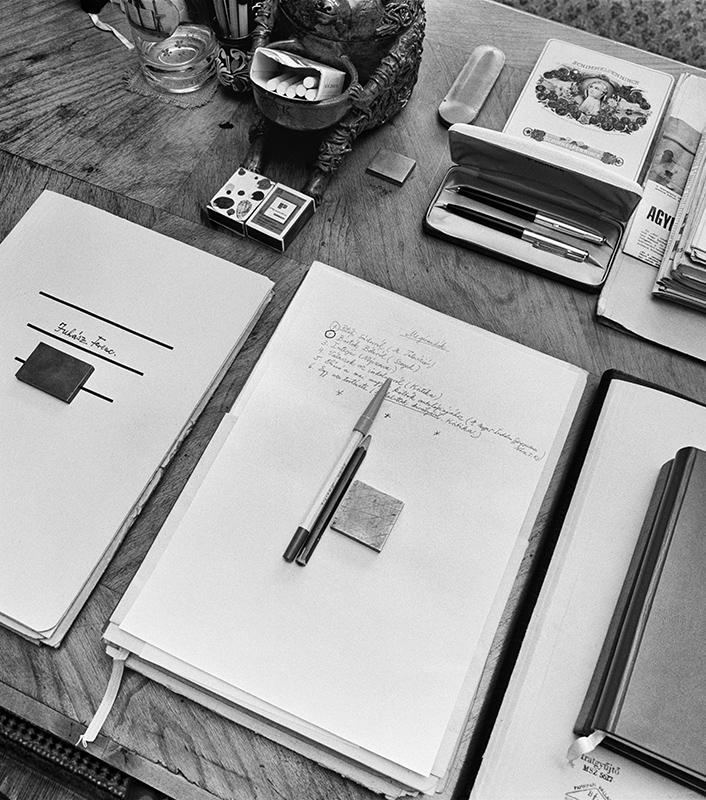 Desk of Ferenc Juhász (1971)